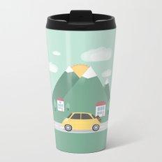 Little Yellow Car Metal Travel Mug