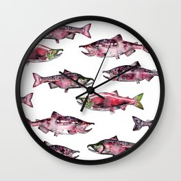 Here Fishy Fishy Wall Clock