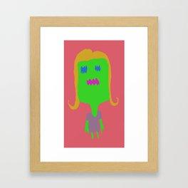 MONSTER GIRL PINK Framed Art Print