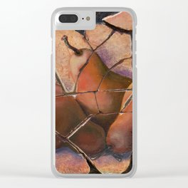 The Pears Fresco With a Crackle Finish #Society6 Clear iPhone Case