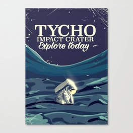 Tycho Lunar crater travel poster Canvas Print