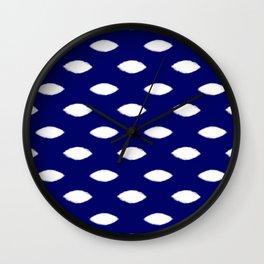 Navy and White Mesh Wall Clock