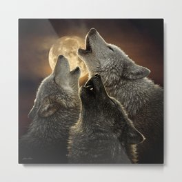 Wolf Trinity Metal Print