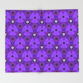 So Purple Throw Blanket