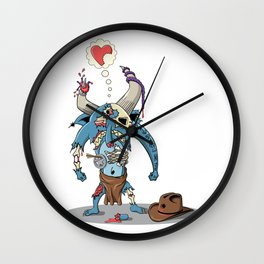 Walking Devil Wall Clock