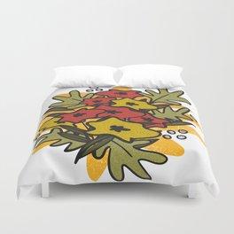 Retro Poppies floral print Duvet Cover