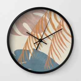 Tropical Leaves Wall Clock