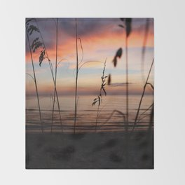 Sunset Sea Grass Throw Blanket