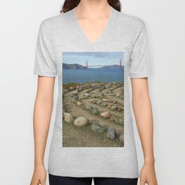 Lands end San Francisco Unisex V-Neck