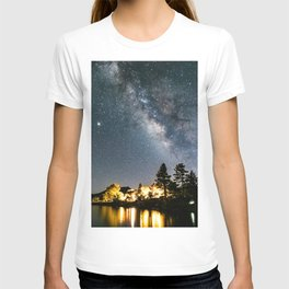Stunning Milky Way By The Lake T-shirt