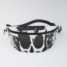 Live , death, banner , skull art, custom gift design Fanny Pack