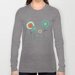 Four Wild Flowers Long Sleeve T-shirt