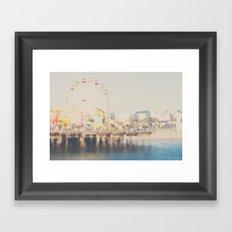 santa monica pier ...  Framed Art Print