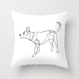 Minimalist line art drawing of Year of the Dog Throw Pillow