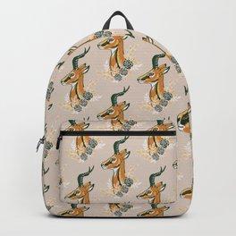 Gazelle - Spring Beige and Green Backpack