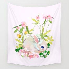 springtime bunny Wall Tapestry