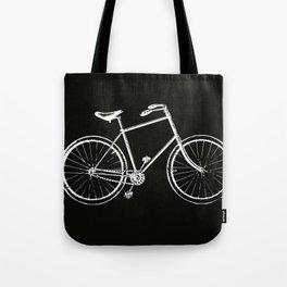 Bike on black Tote Bag