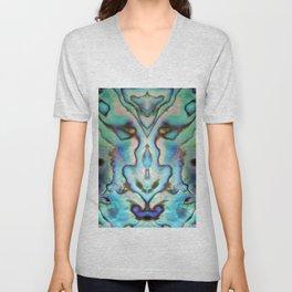 Effervescent Seashell Abstract Unisex V-Neck