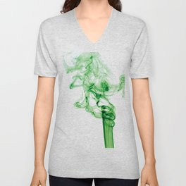 Green Smoke Unisex V-Neck