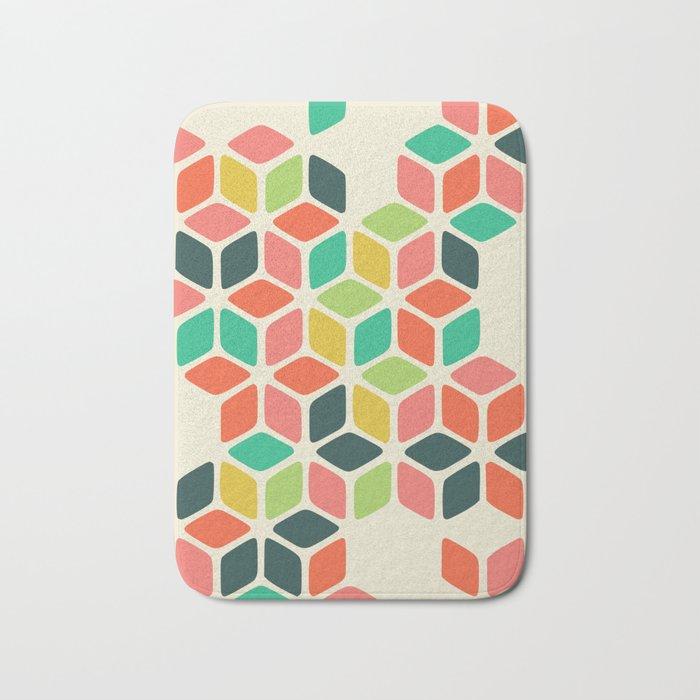 color honeycomb Bath Mat