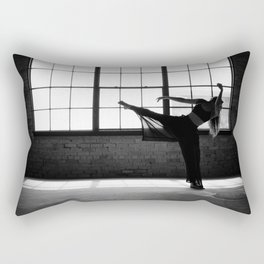 Ballet Dancer Silhouette Rectangular Pillow