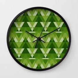 Geometric - Green Wall Clock
