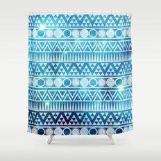 Tribal Ice Shower Curtain