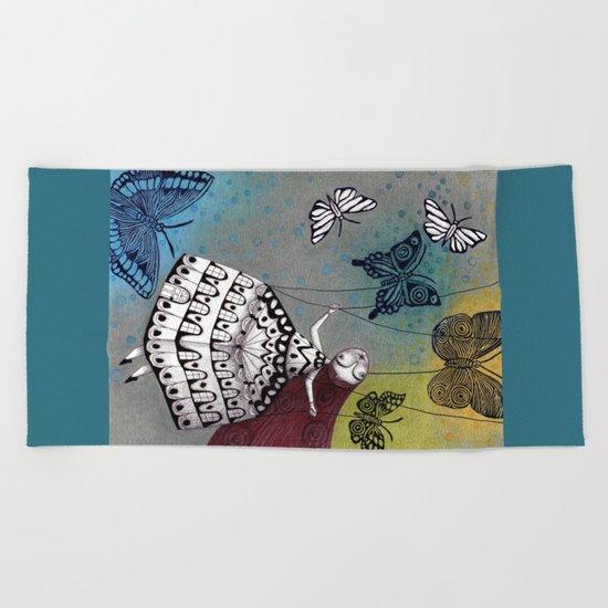 House of Butterflies Beach Towel