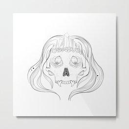 Skull Mermaid Metal Print