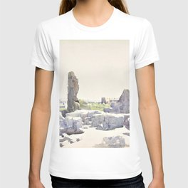Henri Harpignies - View of the Colosseum from the Basilica of Domitian and the Flavian Palace, Rome T-shirt