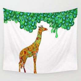 sweetpea giraffe Wall Tapestry