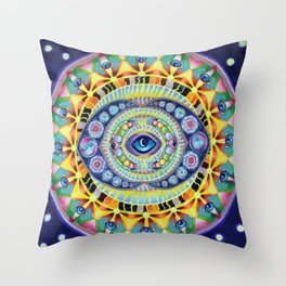 Reflections of my minds eye Throw Pillow