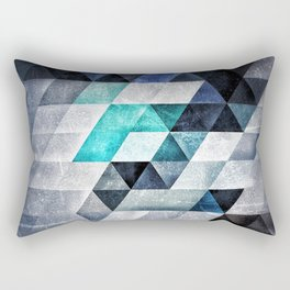 0001 // Cold Shapes // Isometric Grid Rectangular Pillow