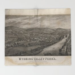 Village of Wyoming, Wyoming Valley Penn'a: scene of the massacre of July 3rd 1778 Throw Blanket