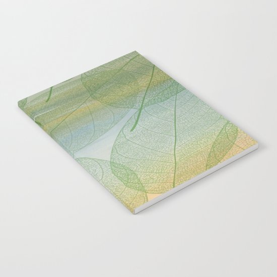 Delicate Painterly Leaves Notebook