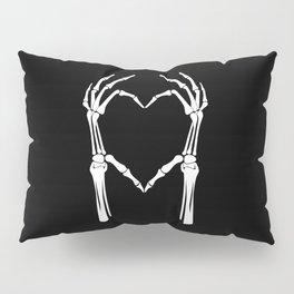 White Heart of Bones Pillow Sham