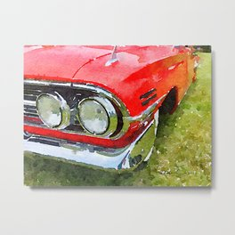 Classic Red - photowatercolor Metal Print