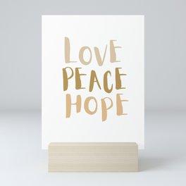 Love, Peace, & Hope Mini Art Print