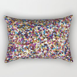 Colorful Rainbow Sequins Rectangular Pillow