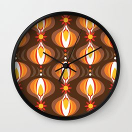 Oohladrop Brown Wall Clock
