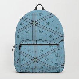 Dark Blue Geometrical Pattern Backpack