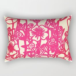 electric flower Rectangular Pillow
