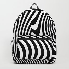 Optical Illusion Op Art Black And White Backpack