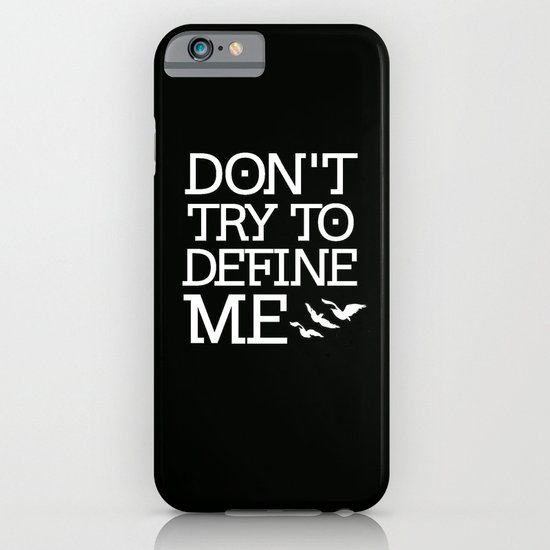 Don't Try to Define Me - Black (Divergent) iPhone & iPod Case