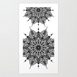 monika's mandala towel Art Print