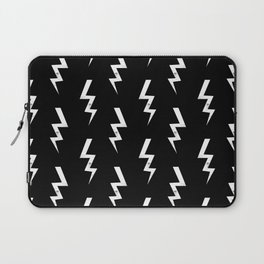 Bolts lightening bolt pattern black and white minimal cute patterned gifts Laptop Sleeve