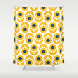 Joy collection- Yellow flowers Shower Curtain