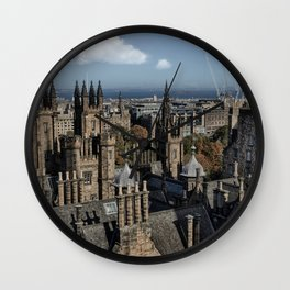 Edinburgh Rooftops Wall Clock