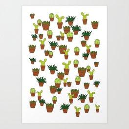 cacti & succulents Art Print