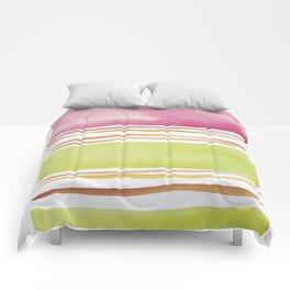 18  |181026 Lines & Color Block | Watercolor Abstract | Modern Watercolor Art Comforters